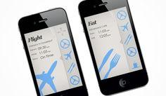 Travel Buddy iPhone App by F4D Media , via Behance