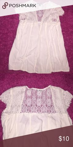 White Fly Open Cardigan American Eagle Creamish White Cardigan American Eagle Outfitters Tops Camisoles