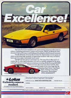 marketing for your online venture Vintage Advertisements, Vintage Ads, True Car, Lotus Esprit, Lotus Car, Car Brochure, Car Posters, Car Advertising, Automobile Industry
