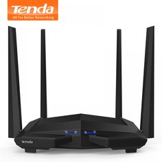Buy Tenda Wireless WiFi Gigabit Ports, High Gain Antennas, Smart APP Manage at Wish - Shopping Made Fun Wireless Wifi Router, Wireless Security, Internet Router, Router Machine, Gadgets Online, Data Transmission, Cool Technology, Computer Accessories