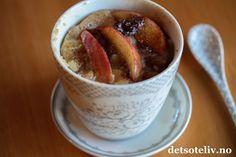 Eplekake i kopp (Apple Mug Cake)