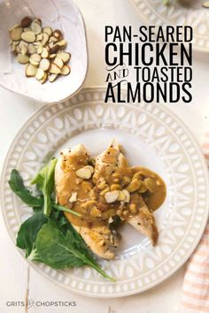This pan-seared chicken with toasted almonds is an ideal recipe for ...