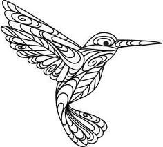 humming bird embroidery patterns - Google Search