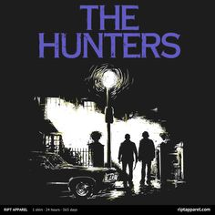 """Get """"The Hunters"""" from artist girardin27 today only, August 11, for $10 at RIPT Apparel. www.riptapparel.com"""