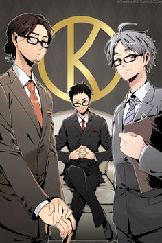 Haikyuu!! Kingsman AU third years