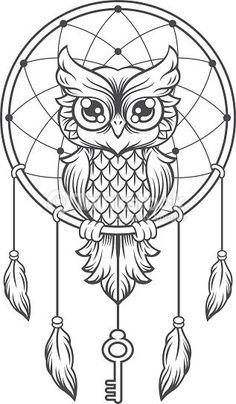Resultado de imagem para desenho de coruja com filtro dos sonhos
