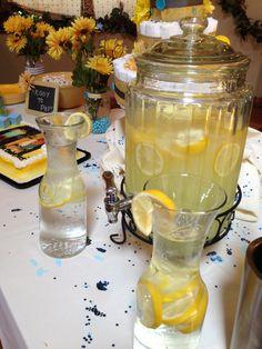 Lemonade for yellow baby shower!