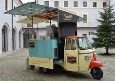 PolentApe: l'Ape Piaggio diventa un ristorante. www.vsveicolispeciali.com #vsveicolispeciali #veicolispeciali #streetfood #cibodistrada #apepiaggio