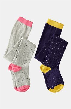 Mini Boden 'Ditzy' Pattern Tights (2-Pack) (Toddler) available at Nordstrom