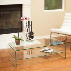 Ramona Glass Rectangle Coffee Table by Christopher Knight Home - Free Shipping Today - Overstock.com - 18195845