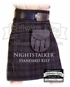 kilts | ... Kilt (has a subtle black on black plaid) from Stillwater Kilts for $80