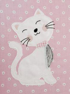 Stickmuster - Katze Doodle Stickdatei - ein Designerstück von feinliebstes bei DaWanda