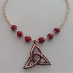 Celtic necklace&coral