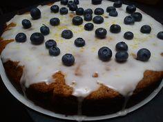 blueberry iced cake.