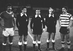 O capitão Toni na jornada inaugural do campeonato 1977/78. Sporting - 1 / Benfica - 1, em Alvalade,