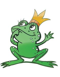 Cartoon Frog Prince vector material