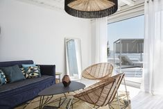 The living room of our Suite with Private Pool. HEAVEN at Kouros Boutique Hotel in Mykonos Mykonos Town Hotels, Luxury Suites, Mykonos Greece, Private Pool, Heaven, Boutique, Living Room, Furniture, Home Decor