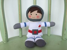 Astronaut, Spaceman rag doll, perfect for imaginative play! by AButtonAndAStitch on Etsy https://www.etsy.com/listing/466196084/astronaut-spaceman-rag-doll-perfect-for