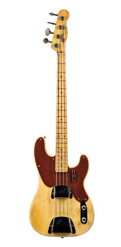 American Electric Bass Guitar, Fender Musical Instruments, Fullerton, 1951 (Lot 7, Estimate $10,000-$15,000) (via Skinner)