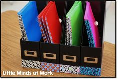 Getting the Classroom Back to School Ready {Custom Writing Folders}