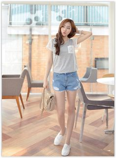 All Korean Fashion items up to 70% OFF! CLICK - #Lace-Panel Short-Sleeve T-Shirt #koreanfashion #top #springfashion