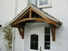 Timber door canopy / porch kit & porch roof bracket support | Roof Brackets: | Victorian porches ...