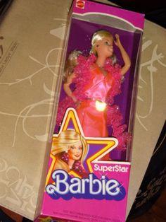 Barbie Superstar 1976 NRFB 9720 Pink Dress Boa Teeth Show Nice Box | eBay