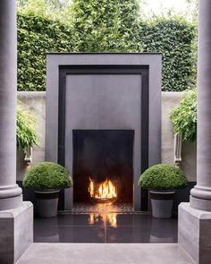 To design a unique outdoor living space, you need a unique fireplace. We present 47 outdoor setting ideas to help you design your own. Outdoor Areas, Outdoor Rooms, Outdoor Living, Outdoor Decor, Indoor Outdoor, Outdoor Stone, Outdoor Patios, Outdoor Kitchens, Outdoor Seating