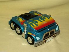PHAT BOYZ FAT BOYS SIMPLE WISHES 2004 BLUE GREEN MONSTER TRUCK FLAME TRAVEL CASE #SimpleWishesInc