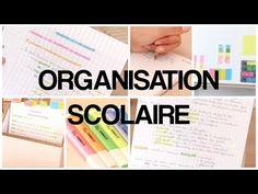 ORGANISATION SCOLAIRE - 1 - YouTube Back To School, How To Plan, Reading, Youtube, Tri, Organiser, Tik Tok, Blog, Student Work