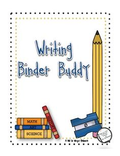The Writing Binder Buddy is a set of resource pages that can be added to your students' writing binder/folder. This set includes: commonly misspe...