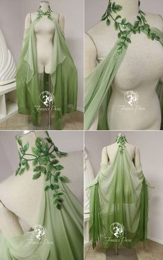Leaf Cape by Firefly-Path on DeviantArtYou can find Fairy dress and more on our website.Leaf Cape by Firefly-Path on DeviantArt Pretty Outfits, Pretty Dresses, Beautiful Dresses, Cool Outfits, Fashion Outfits, Chicos Fashion, Steampunk Fashion, Work Fashion, Gothic Fashion