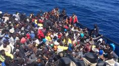 Muslim migrants after they threw 12 Christians overboard after a row on a boat heading to Italy.