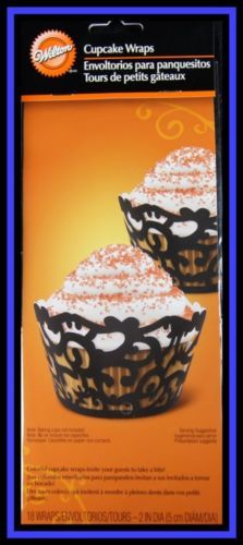 Brilliant Cupcake Liner Wraps Standard Size Cupcake Wrappers 18ct Baking Accs. & Cake Decorating Pick Your Color