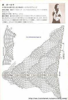 Crochet shawl chart pattern