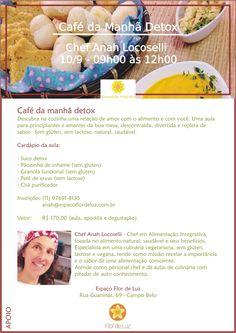 Alimentação Integrativa - Receitas para Viver Bem: CAFÉ DA MANHÃ DETOX - AULA DE…