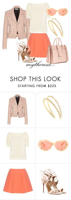 """Let The Sunshine In With mytheresa.com: Contest Entry"" by pemberlyp ❤ liked on Polyvore featuring Balenciaga, Miu Miu, See by Chloé, Acne Studios, Alice + Olivia, Aquazzura and Yves Saint Laurent"