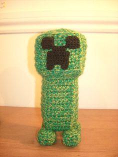 Amigurumi crochet minecraft creeper by suddenlymonsters on Etsy, £15.00