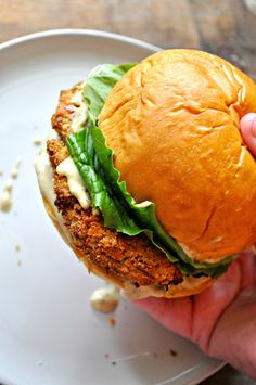 These vegan crispy chicken Caesar sandwiches are amazing. Baked crispy chickpea patties, the best vegan Caesar dressing and romaine lettuce! Chicken Caesar Sandwich, Veggie Sandwich, Vegan Vegetarian, Vegetarian Recipes, Healthy Recipes, Vegetarian Sandwiches, Going Vegetarian, Vegetarian Breakfast, Vegetarian Dinners