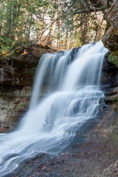 Upper Michigan Waterfall - Laughing Whitefish Falls
