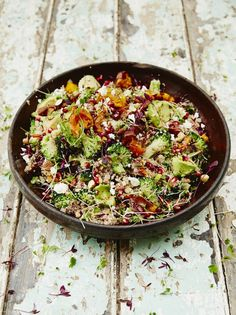 Superfood Salad (with quinoa & roasted sweet potato)-- Full of great veggies, this salad is nutritious, delicious and super-satisfying!
