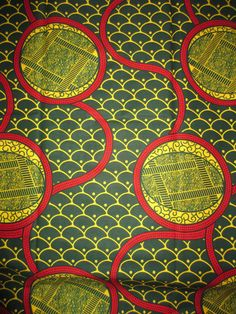 AFRICAN REAL WAX PRINT COTTON FABRIC.