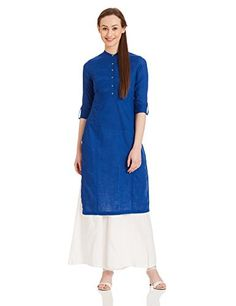 Color: Blue Material: Cotton with three quarter sleeve Straight fit #WforWoman #StraightKurta
