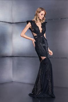 Black dress Sequins, Black Outfits, Fall 2016, Formal Dresses, Style, Fashion, All Black Clothing, Dresses For Formal, Swag
