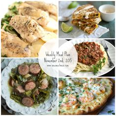 Weekly Meal Plan: Five easy weeknight recipes for the busy home cook.