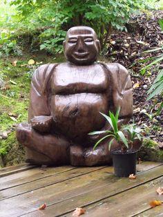 Buddha auf der Terrasse