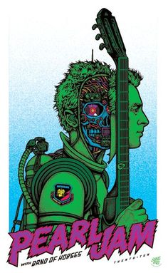 2010 Pearl Jam - Newark Silkscreen Concert Poster by Ames Hippie Rock, Art Hippie, Tour Posters, Band Posters, Pop Rock, Rock And Roll, Norman Rockwell, Concert Rock, Pearl Jam Posters