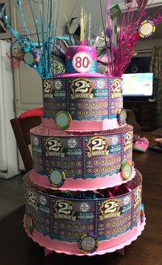 fed57870d28 birthday party ideas · Materials Needed  - 25 -  2 scratch tickets - Double  sided tape - Hot glue