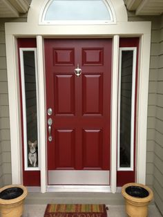 front door color what a bright and cheery first appearance home decor pinterest portes. Black Bedroom Furniture Sets. Home Design Ideas