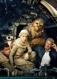 Annie Leibovitz shoots the cover of the latest Vanity Fair featuring Star Wars: The Force Awakens Stars Harrison Ford, John Boyega and Daisy. Star Wars Film, Theme Star Wars, Star Wars Episoden, Harrison Ford, Film Gif, Film Serie, Annie Leibovitz, Vanity Fair, Images Star Wars